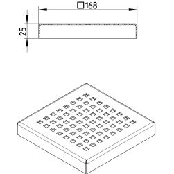 Line Drawing - Grating-Drain-200