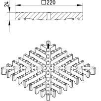 Line Drawing - Grating-Drain-250
