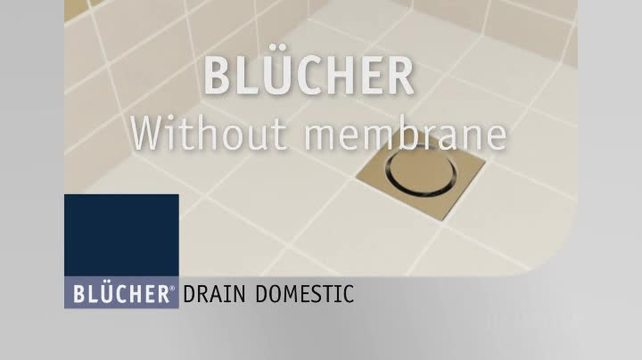BlucherShowerDrainSQUAREWithoutMembraneSmall